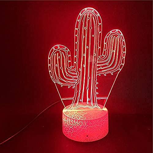 Luz De Noche 3D Led 7 Gradientes De Color, Decoración De La Habitación Del Dormitorio