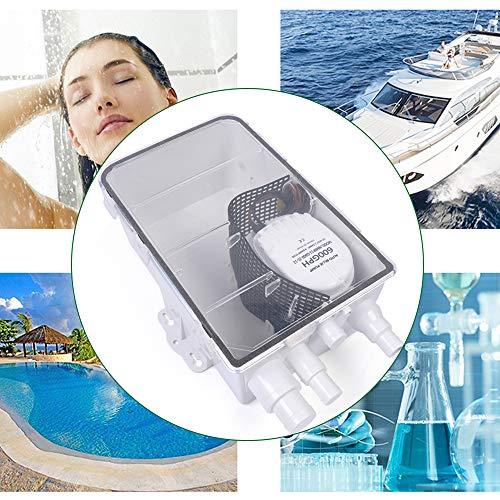 Berkalash Duschwannen Pumpensystem, 12V/24V 600GPH Pumpen System, mit Automatische Schwimmerschalter, für Yachten und Wohnmobile (24V)