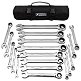 18pc MM/Metric TIGHTSPOT Ratcheting Wrenches MASTER SET - With BEAR KEEPER Rollup Case - Our standard in safety for...