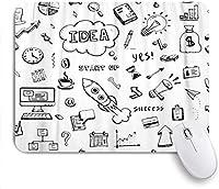 マウスパッド 個性的 おしゃれ 柔軟 かわいい ゴム製裏面 ゲーミングマウスパッド PC ノートパソコン オフィス用 デスクマット 滑り止め 耐久性が良い おもしろいパターン (金融落書きスケッチ砂時計本アローチャートラップトップ落書き)