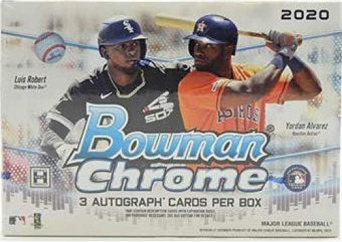 2020 Bowman Chrome Baseball HTA Box (1 Pack/3 Autographed Cards)