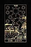The Star: Tarot Journal Notebook Lined, Black And Gold (College Ruled, 110 Pages, 9'x6') (Tarot Card Notebook)