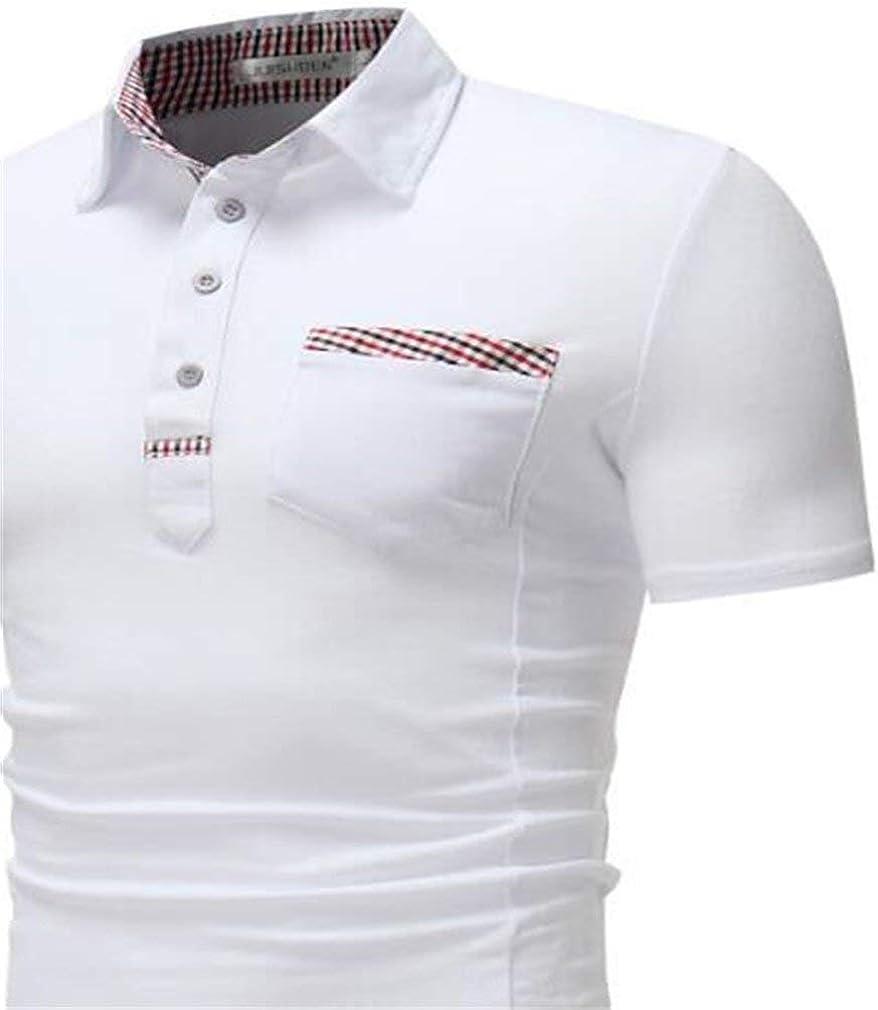 HaiDean Polo Camisa De Verano Simple Solapa Polo Estilo ...