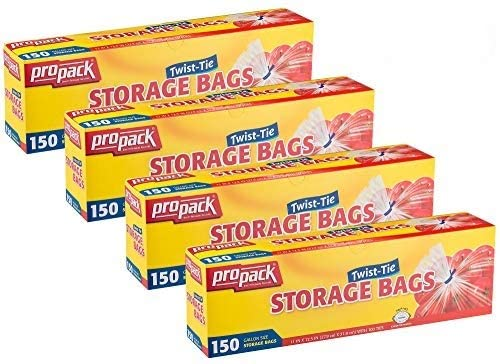 ProPack Disposable Plastic Storage Bags depot Original with OFFicial Twist Tie