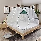 Pop-Up Bed Canopy plegable Mosquito Net Tienda de instalación libre con una abertura Ropa de cama adecuada para niños adultos al aire libre para acampar en casa sin productos químicos