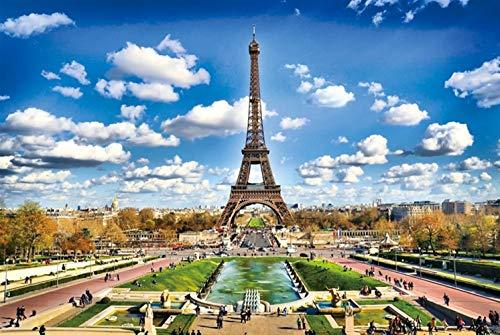 PUZZLEYM 300/500/1000 Stuk Legpuzzel Volwassen Eiffeltoren Architectuur Landschap Creatief Uniek Gift Gepersonaliseerd Spel Volwassenen Kinderen Educatief Speelgoed