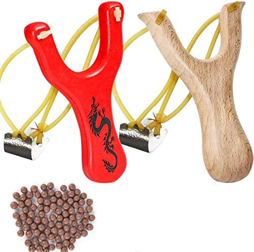 BESTZY Solid Wooden Slingshot Toys with Classic Construction Hunting Slingshot for Catapult product image
