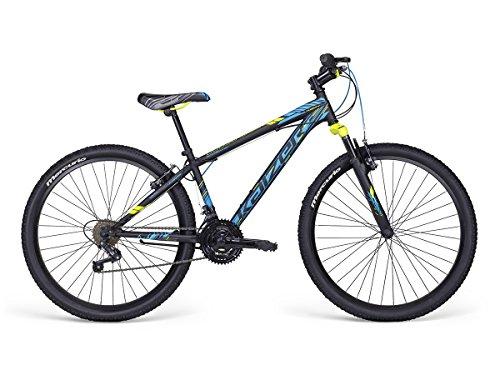 Bicicleta Mercurio Kaizer R26 con Suspensión, para Hombre, Negro/Azul/Verde