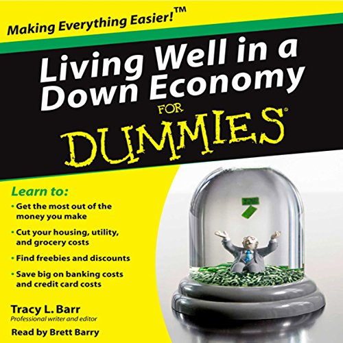 Living Well in a Down Economy for Dummies audiobook cover art