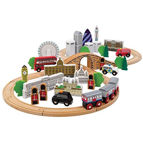 Tidlo Wooden City of London Figure of Eight Train Set
