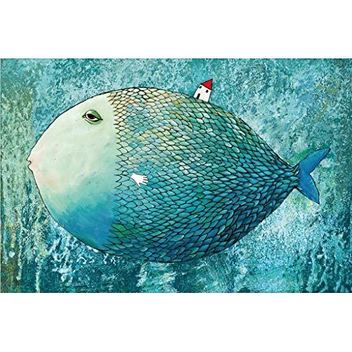 Puzzels 1000 Stuks, Grote Vissen, Educatief Houten Decompressiespeelgoed Voor Volwassen Kinderen Is Het Beste Cadeau Voor Vrienden En Familie -4.14