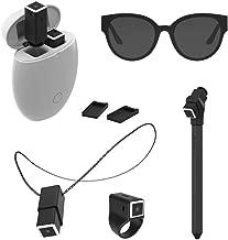 OPKIX One X Bundle - Women's - White Smart Egg - Two Black Wearable Video Cameras + Mounts: Play - Gloss Black/Grey Sunglasses, Black OS Ring, Black Necklace, Black Selfie Stick, 4 Flat Plates