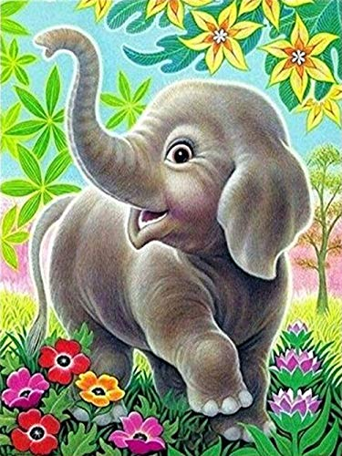 Amphia - Elefant,Tiger Serie Diamond Painting,5D Stickerei Gemälde Strass DIY Diamant Malerei Kreuzstich(30 * 30cm)