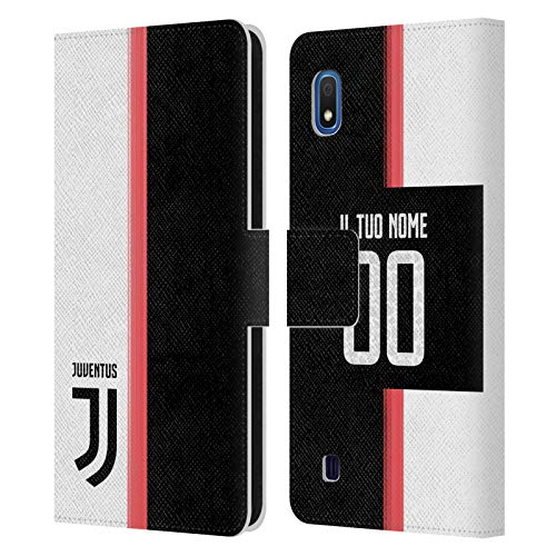 Head Case Designs Personalizzata Personale Juventus Football Club in casa Cover in Pelle a Portafoglio Compatibile con Samsung Galaxy A10 (2019)