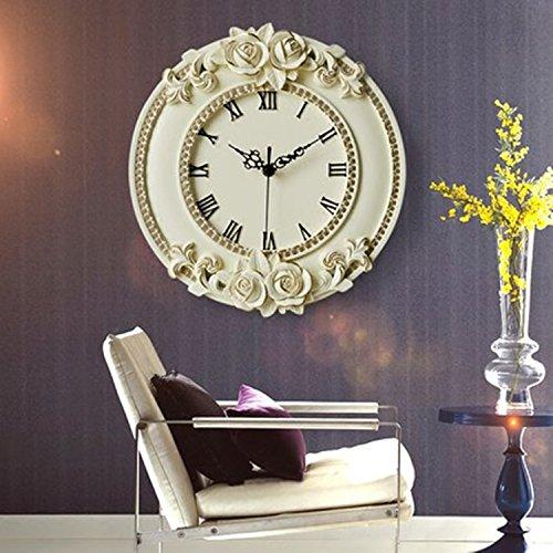 horloge murale CivilWeaEU Calme Salon Art Créatif Lié à Montres Haut de Gamme Pendaison Table
