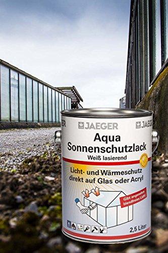 Jaeger Aqua Sonnenschutzlack, weiss lasierend, 2,5 Liter
