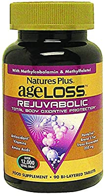 Nature's Plus AgeLoss REJUVABOLIC Resveratrol Anti-Aging Complex 90 Bi-Layered Tablets