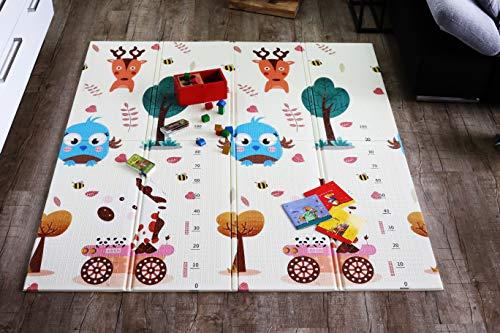 Spielmatte Baby Schadstofffrei Elternstolz Babymatte Spielteppich Spielzeug Ab 0 Monate Krabbeldecke Spieldecke TÜV Geprüft (M 157 x 177 x 1 cm)