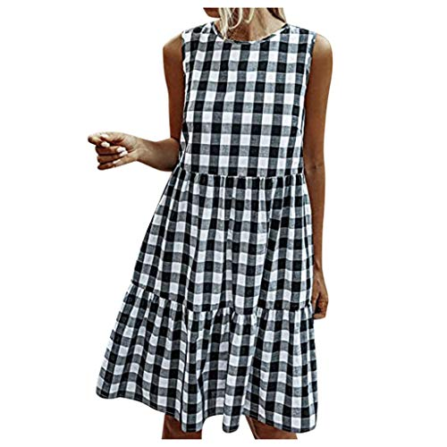 Quealent Women Summer Dress Ladies Spaghetti Strap Elastic Bodycon Backless Party Mini Dresses for Women
