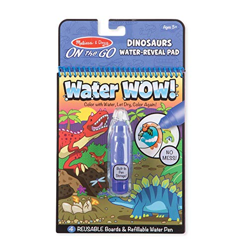 Melissa & Doug Water Wow- Dinosaur | Activity Pad | Travel | 3+ | Gift for Boy or Girl