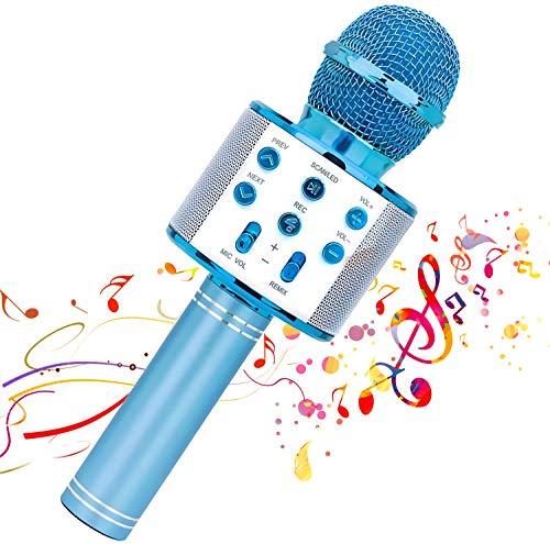EEM Micrófono inalámbrico Karaok, 4 en 1 máquina portátil de Karaoke con Altavoz portátil...