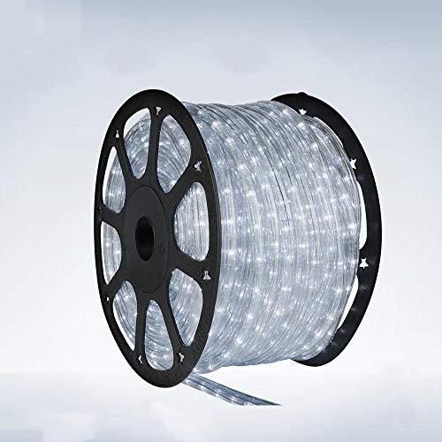 5 Meter Lichtschlauch - Leds in 5 Farbe - Für Innen und Außen - 24 Leds pro Meter, Lichtfarbe:Kaltweiß
