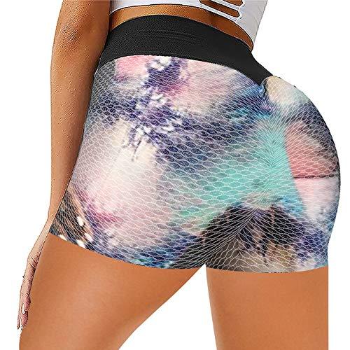 CXDS Leggings da donna, pantaloni da yoga, corsa, allenamento, a vita alta, sollevamento bolle