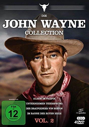 Die John Wayne Collection - Vol. 2 (Alarm im Pazifik / Unternehmen Tigersprung / Der Draufgänger von Boston / Im Banne der roten Hexe) [4 DVDs]