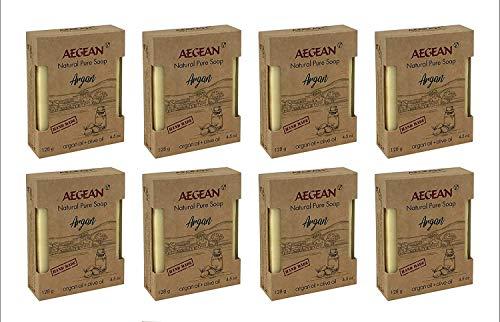 Argan Oil Soap Bar - Handmade 100% Pure Natural & Vegan, Shampoo Bar (8 Bars)
