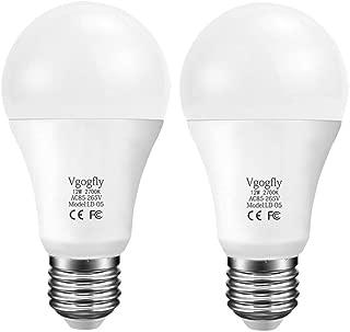 Dusk to Dawn Light Bulb Smart Sensor Dusk Till Dawn LED Bulbs 12W 100-Watt Equivalent Built-in Photosensor Detection Auto Switch Outdoor Indoor LED Lighting Lamp (Warm White 2 Pack)
