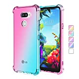 for LG K50/LG Q60/LG K12 Max Colorful Gradient Clear Case,