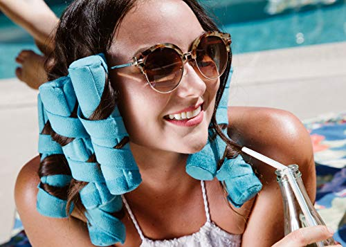 Allstar Innovations Sleep Styler: los rizadores de pelo nocturno sin calor para cabello largo, grueso o rizado, grande (rodillos de 6 pulgadas), 8 unidades, como se ve en Shark Tank