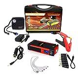 PIANAI 82800mAh Chargeur Batterie voitures/12v Booster Batterie Voiture/Booster Batterie Portable/Jump Starter Démarrage de Voiture/Démarreur de Voiture Portable,Rouge,82800mAh