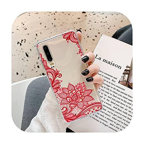 Linda dibujos animados margarita flor teléfono caso transparente para Samsung A71 S9 10 20 HUAWEI p30 40 honor 10i 8x xiaomi note 8 Pro 10t 11-a7-xiaomi mi 10t