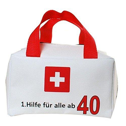 TASCHE 1. HILFE FÜR ALLE AB 40 GESCHENKARTIKEL 40. GEBURTSTAG DEKO ZUM BEFÜLLEN
