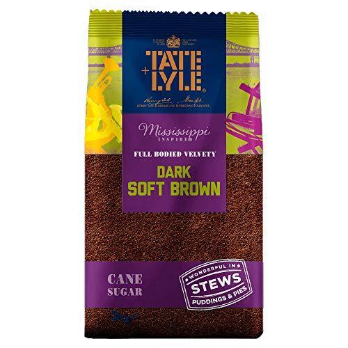 Tate & Lyle Fairtrade Dark Brown Sugar, brauner Rohrzucker mit Melasse (3 kg)