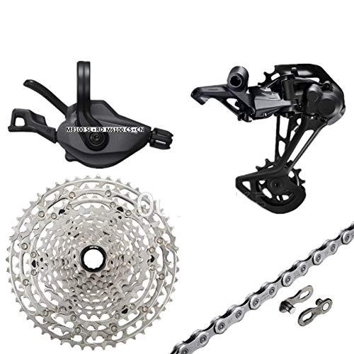 TSAUTOP Newest DEO-RE XT SLX M8100 M7100 M6100 GRUPOSS Bicicleta de montaña 1x12-SPEED 10-51T M7100 M8100 Desplazamiento Trasero Trasero para Shi-ma-No (Color : M8100 and M6100 51T)