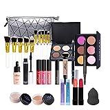 Juegos de Maquillaje para Mujer, Set de Maquillaje Profesional de 28 Piezas, Organizador de Maquillaje de Viaje Portátil - Kit de Cosméticos Completo Con Sombras de ojos Lápiz Labial Ocultador