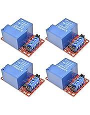 4 STUKS 30A 5V 1 Kanaals Relaismodule met Optocoupler Isolatie Hoog/Laag Niveau Trigger Relais voor Arduino, 5V 30A 1 Kanaals Relaismodule met H/L Niveau Triger Optocoupler voor Arduino