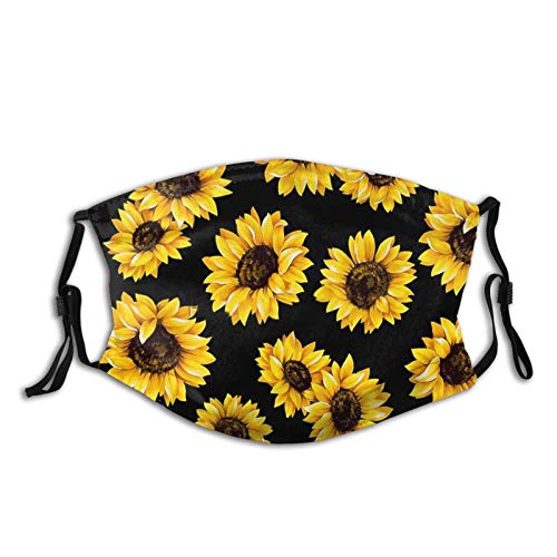 Sunflower-Face Mask, Breathable-Adjustable-Dust Filter Mask Flower Balaclavas,Unisex