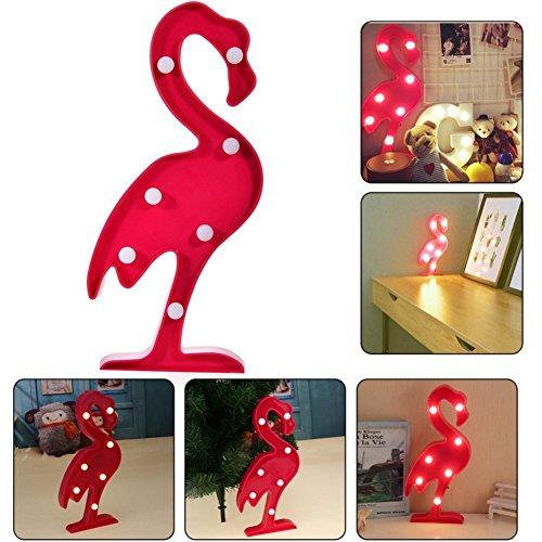 3D Flamingo LED Lampe Décorative Marquee Signes Lettre Flamingo Nuit Lumière Décoration Murale pour Salon Chambre Maison Noël De Morkka (Flamant)