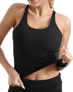 Yoga Tank Tops for Women Padded Sports Bra Workout Crop Tops Running Yoga Tank Top Built in Bra...