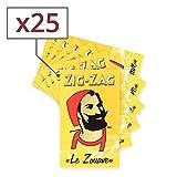 papier à rouler zig zag jaune x25
