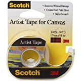 3 M Scotch Cinta de Artista para Canvas-.75-Inch X 10yd, Otros, Multicolor