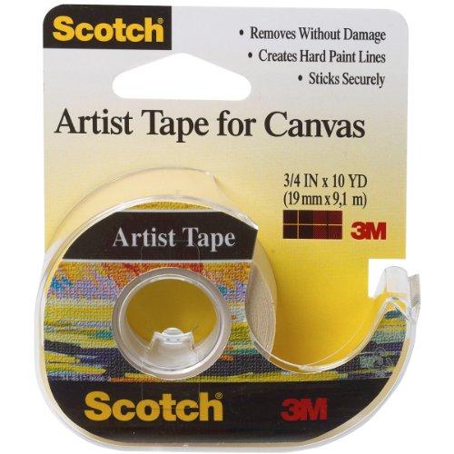 3M Scotch Künstler Klebeband für canvas-.75-inch X 10yd, andere, mehrfarbig