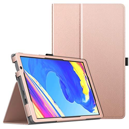 MoKo Funda Compatible con Vankyo MatrixPad S20, Ultra Slim Función de Soporte Plegable Smart Cover Stand Case Compatible con Vankyo MatrixPad S20 Tableta - Oro Rosa