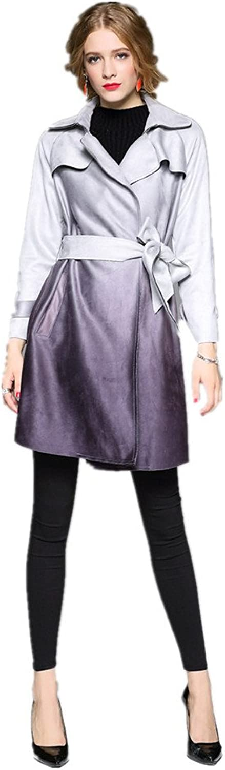 Bobbycool Women's Short Spring And Winter Coats Gradient