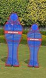 Sport-Thieme Freistoss-Dummy | Freistossmauer, Freistossdummies mit Stange u. Erdanker | HxB: 130x55 cm o. 170x60 cm | Robust, Stabil, Mobil, Quick-Click Technik | Markenqualität