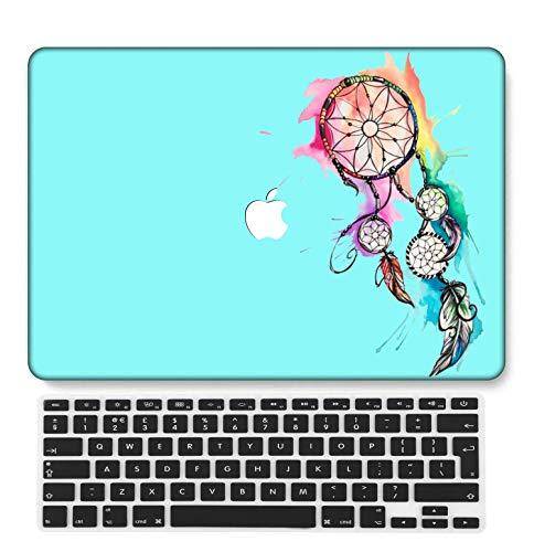 GangdaoCase Plástico Ultra Delgado Ligero Estuche RígidoDiseño Cortado Compatible 2020 Nuevo MacBook Air 13 Pulgadas con Touch ID con UK Cubierta Teclado A2179/A2337 M1 (Creativo B 164)
