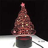 Lámpara de mesa LED con efecto de árbol 3D Lámpara de mesa con luz nocturna alimentada por USB para elegir el restaurante de la oficina cafe bar 3
